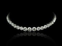 Collana di diamanti Fotografie Stock Libere da Diritti