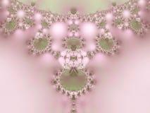 Collana di frattalo del merletto delle perle   Immagine Stock
