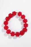 Collana di vetro rossa fotografia stock