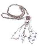 Collana di Violet Gemstone fotografie stock
