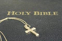 Collana e bibbia trasversali Immagine Stock