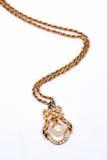 Collana etnica della perla Fotografie Stock Libere da Diritti