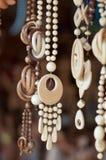 Collana fatta di legno Immagine Stock
