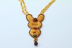 Collana indiana dell'oro Fotografia Stock