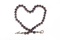 Collana nera della perla Fotografia Stock Libera da Diritti
