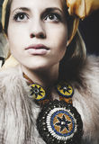 Collana pakistana alla moda tradizionale Fotografie Stock Libere da Diritti