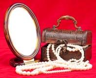 Collana preziosa della perla Immagini Stock Libere da Diritti