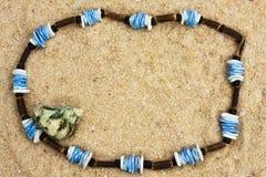 Collana sulla sabbia Immagine Stock Libera da Diritti