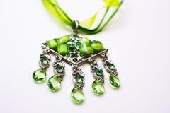 Collana verde Fotografia Stock