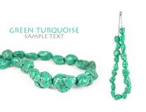 Collana verde del turchese Fotografia Stock Libera da Diritti
