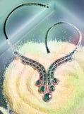 Collana verde smeraldo Immagini Stock