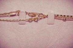 Collane della catena dorata Immagine Stock Libera da Diritti