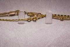 Collane della catena dorata Fotografia Stock Libera da Diritti