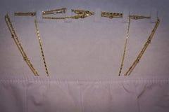 Collane della catena dorata Fotografia Stock