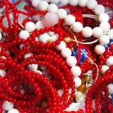 Collane di corallo Fotografia Stock