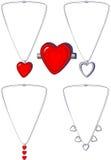 Collane e spiedo del cuore Immagine Stock Libera da Diritti
