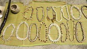 Collane fatte a mano delle conchiglie Fotografie Stock Libere da Diritti