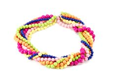 Collane fatte a mano delle perle belle Immagini Stock
