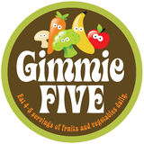 collant/étiquette de promo de 70s Gimmie cinq Image stock