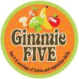 Collant/étiquette de promo de Gimmie cinq sur le fond 70s illustration de vecteur