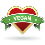 Collant d'étiquette de nourriture de Vegan Photo libre de droits