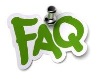 Collant de FAQ illustration de vecteur