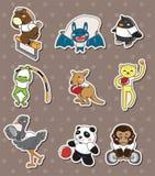 Collants animaux de sport Image stock