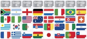Collants avec les indicateurs 2010 nationaux de coupe du monde Image libre de droits