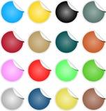 Collants brillamment colorés d'étiquette de vente d'éléments de Web Photo stock