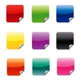 Collants carrés de Web Image libre de droits