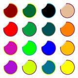 Collants colorés ronds d'isolement sur le blanc Illustration Libre de Droits
