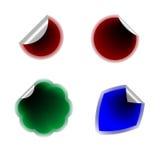 Collants colorés sur le fond blanc Illustration de Vecteur