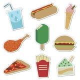 Collants d'aliments de préparation rapide Photographie stock