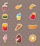 Collants d'aliments de préparation rapide Image stock