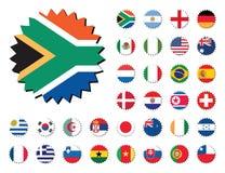 Collants d'insignes d'indicateurs de pays Illustration de Vecteur