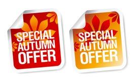 Collants d'offre d'automne. Photographie stock libre de droits