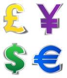 Collants de devise Image libre de droits