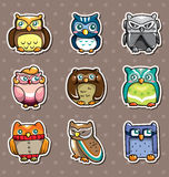 Collants de hibou de dessin animé Images stock