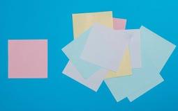 Collants de papier colorés Images libres de droits