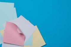 Collants de papier colorés Photos libres de droits