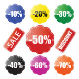Collants de vente Photo stock