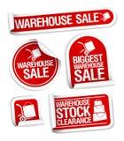 Collants de vente d'entrepôt. illustration de vecteur