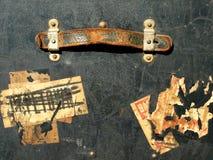 Collants et étiquettes de cas de course de cru Images stock