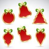 Collants et étiquettes de vente de Noël pour des escomptes Photos libres de droits