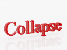 Collapse Royalty Free Stock Image