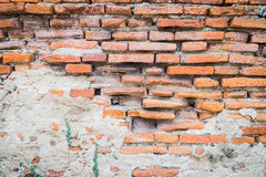 Collapse brick wall Royalty Free Stock Image