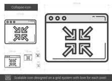 Collapse line icon. Stock Photo