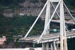 The collapse of the Morandi bridge in Genoa Stock Photos