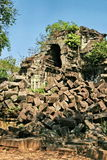 The collapse palace in beng mealea ,cambodia Royalty Free Stock Photos
