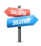 Collapse and solution sign illustration design Stock Image